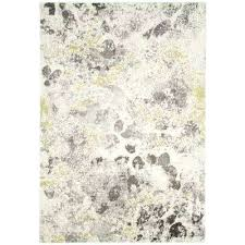 gray and yellow area rug watercolor ivory gray 4 ft x 6 ft area rug yellow
