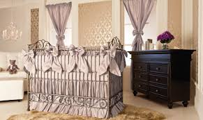upscale baby furniture. Fine Upscale The Shimmering Gold Wallpaper Sets The Stage For This Classic Neutral  Nursery Unexpected In Its Intended Upscale Baby Furniture T