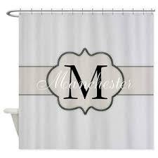 Image Vineet Bahl Cafepress Rustic Monogram By Lh Shower Curtain