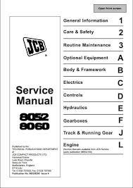 jcb midi excavator service repair manual a repair instant jcb 8052 8060 midi excavator service repair manual this manual content all service repair maintenance troubleshooting procedures for