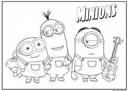 Small Picture Minions free coloring pages for kids