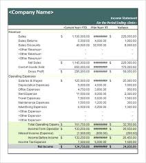 Business Statement Template Of Account Sample Customer