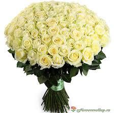 <b>Букет</b> из 101 белой розы сорт <b>&quot</b>