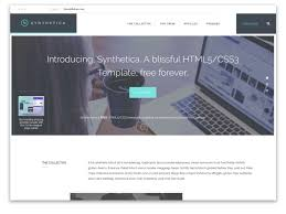 Free Downloads Web Templates 008 Web Templates Free Downloads Synthetica One Page Website