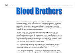 blood brothers gcse english marked by teachers com document image preview