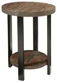 pomona round end table rustic
