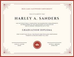 Professional Certificates Templates Red And Cream Framed Academic Professional Certificate Templates