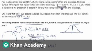 Calculating A P Value Given A Z Statistic Video Khan Academy