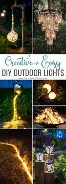 creative and easy diy outdoor lighting pin image