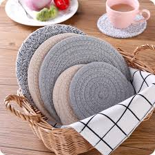 2019 nordic style round cotton dining table mat coffee cup mug coaster heat insulation mat kitchen table placemat from goutour 26 42 dhgate com