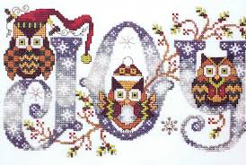 Owl Cross Stitch Pattern Awesome Joyful Owls Cross Stitch Pattern By Stoney Creek