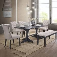 best quality dining room furniture. Best Quality Furniture 6-Piece Traditional Dining Set With Bench, Light Grey Best Quality Dining Room Furniture U