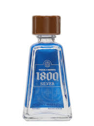 1800 silver tequila miniature the