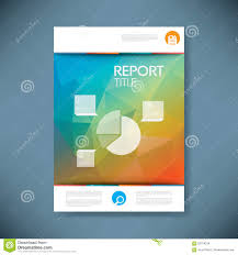 business report cover page template report cover template with pie chart symbol and 3d stock vector