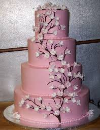 hot pink are my wedding colors how would my wedding cake look as