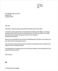 Resignation Letter Sample Doc Resume And Cover Letter Resume And