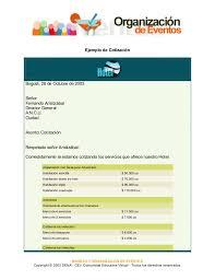 Formato De Cotizacion Para Eventos Tirevi Fontanacountryinn Com
