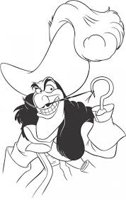 Disney Characters Printable Coloring Pages Peter Pan S Captain Hook