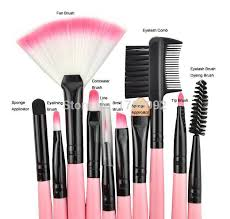 factory low whole 24pcs cosmetic set kit soft synthetic makeup brushes
