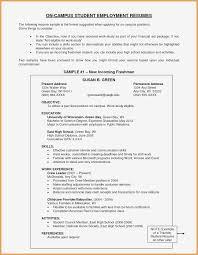 Curriculum Vitae Format For College Students Elegant Sample Resume