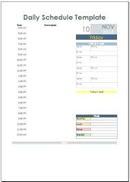 Day Planner Hourly Daily Planner Template Excel Schedule Hourly Day Agenda