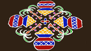 The rangolis or pongal kolams that are made as a part of cleaning and decorating the house, traditionally depict the various aspects of the. Pongal Paanai Design 17 To 3 Dots Pongal Paanai Kolam Rangoli Designs Kundalu Muggulu Youtube