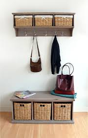 Coat Rack With Baskets Basket Acacia Coat Rack Dale Cloakroom 19