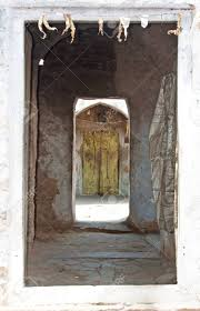 stock photo very old doors in indian villages
