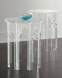 casper clear acrylic side table ikea tables beautiful base small