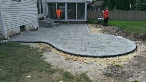 slate patio with fire pit canyon landscaping flagstone patios