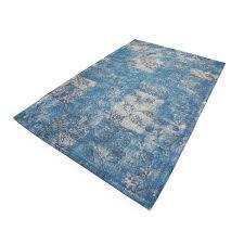 ice blue flower transitional rug cotton 108 144 tp1025l ea 10