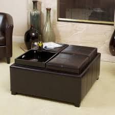 storage ottoman coffee table. Mason Bonded Leather Espresso Tray Top Storage Ottoman By Christopher Knight Home Coffee Table L