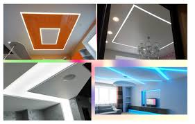 led lines in the ceiling plasterboard