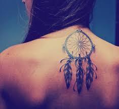 Purple Dream Catcher Tattoo 100 Dreamcatcher Tattoos for a Good Night Sleep 33
