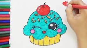 cute cupcake drawing. Brilliant Drawing How To Draw A Cute Cupcake  Easy And Sweet  BoDraw For Drawing G