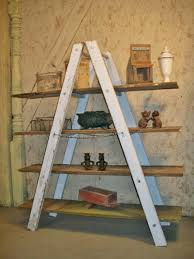 Wooden Ladder Display Stand A Shaped Wooden Ladder Rustic Shelving 100 Rung 22