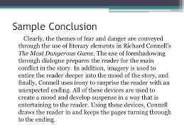 the literary analysis essay using the most dangerous game by  15 sample conclusion
