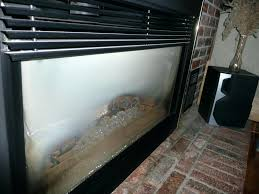 cleaning glass on gas fireplace clean inside majestic