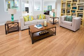 classic natural laminate in family room