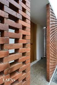 Perforated Brick Wall Design White Perforated Brick House Bandung E B E N