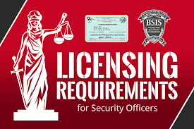 california security officer licensing requirements