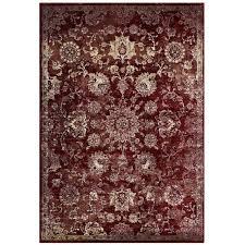 cynara distressed fl persian medallion 8x10 area rug in burdy and beige