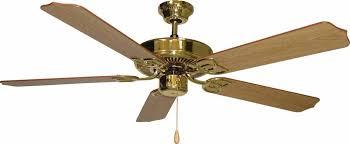 minster polished brass ceiling fan