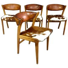 cow hide dining chairs four danish oak leather and cowhide dining chairs for brothers cow hide dining chairs