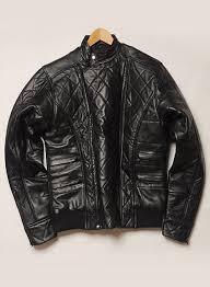 leather padding jacket 625