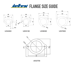 Muffler Clamp Size Chart Jetex Exhaust Flange With Gasket Two Bolt Type 2 Inch