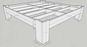 diy bed frame plans inside king size bed frame plans free