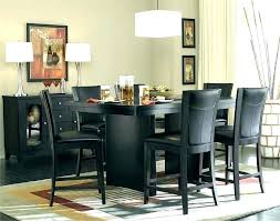 black dining table sets room chairs tall tables set decor bistro