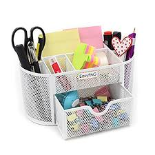 cute office desk. EasyPAG School / Office Desk Accessories Organizer 9 Components Desktop Supplies Caddy With Drawer,White Cute R