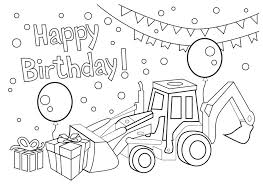 Birthday Coloring Page Happy Birthday Coloring Sheets Free Printable